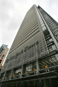 The Renzo Piano-designed New York Times building (AP Photo/Frank Franklin II).