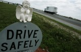 A roadside memorial in Florida in May 2007 (AP Photo/J. Pat Carter)