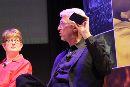 Kathleen Carroll and Jeff Jarvis. (Photo by Serena Dai)