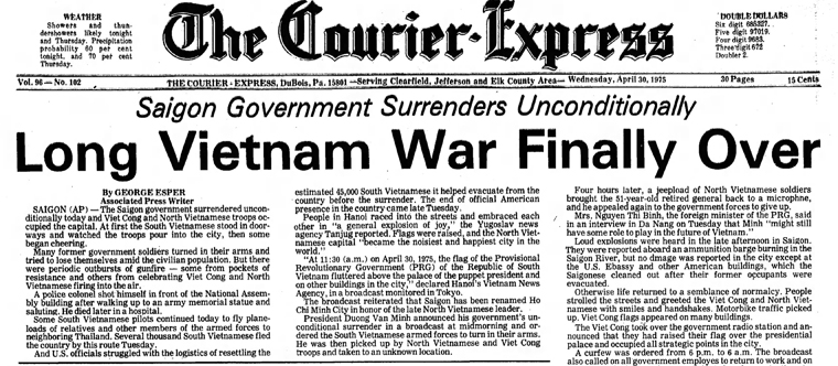 Image result for the end of the vietnam war