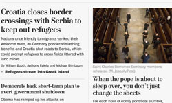 The Washington Post's new website: print-inspired hierarchy