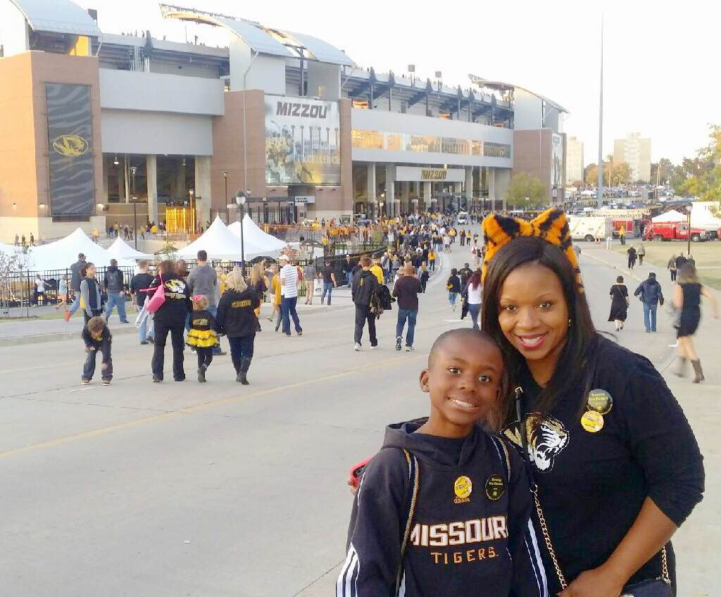 Kia Breaux and her son at the University of Missouri. (Submitted photo)