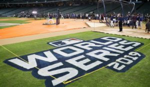Houston Astros take batting practice for the World Series. (AP Photo/Matt Slocum)