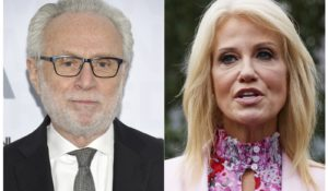 CNN's Wolf Blitzer, left, and Counselor to the President Kellyanne Conway. (AP Photo)