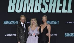"From left: Nicole Kidman, Margot Robbie and Charlize Theron attend the premiere of ""Bombshell"" last week in Los Angeles. (Photo by Jordan Strauss/Invision/AP)"