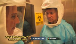 NBC News' Richard Engel, reporting on the coronavirus for a special Sunday at 10 p.m. on MSNBC. (NBC News)