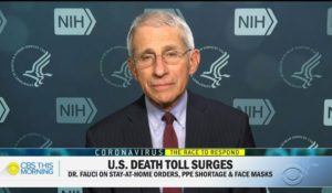 "Dr. Anthony Fauci, appearing on Thursday's ""CBS This Morning."" (Courtesy: CBS News)"