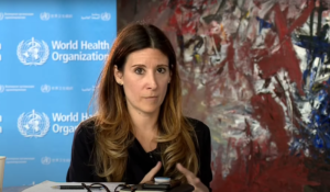 Maria Van Kerkhove, head of the WHO's emerging disease and zoonosis unit, in a live Q&A on June 9 (Screenshot, WHO video)