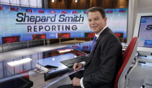Former Fox News Channel chief news anchor Shepard Smith on The Fox News Deck in 2017 (AP Photo/Richard Drew, File)