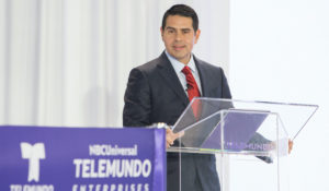 Cesar Conde, chairman of NBCUniversal News Group. (Jesus Aranguren/Telemundo via AP Images)
