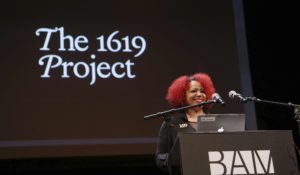 "Nikole Hannah-Jones, creator of The New York Times' ""1619 Project,"" earlier this year. (Credit: mpi43/MediaPunch /IPX)"