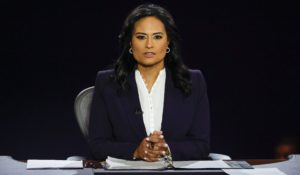 Moderator Kristen Welker of NBC News during Thursday night's debate in Nashville, Tenn. (Jim Bourg/Pool via AP)