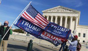 Demonstrators outside the Supreme Court last month. (AP Photo/J. Scott Applewhite)