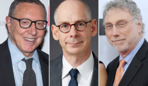 Left to right, former Los Angeles Times executive editor Norman Pearlstine, ABC News president James Goldston and Washington Post executive editor Marty Baron. (Photos by: Charles Sykes/Invision/AP, ABC News, Dennis Van Tine/MediaPunch/IPX)