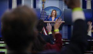 White House press secretary Jen Psaki speaks during a press briefing at the White House, Tuesday, Feb. 2, 2021, in Washington. (AP Photo/Evan Vucci)