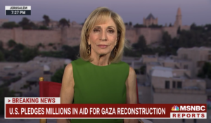 NBC News' Andrea Mitchell reporting from Jerusalem this week. (Courtesy: NBC News)